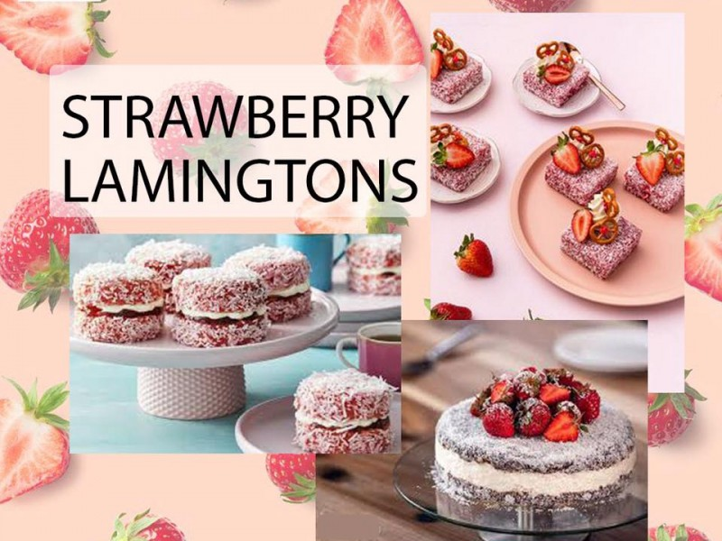 Strawberry Lamingtons Image