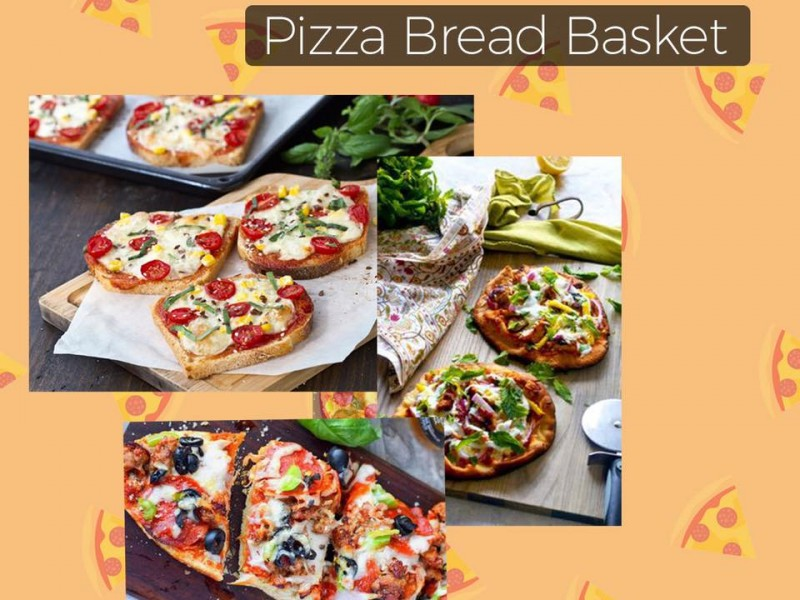 Pizza Bread Basket Image