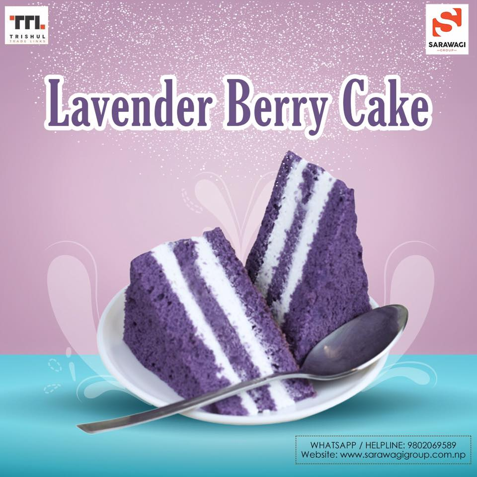 Lavender Berry Cake Image