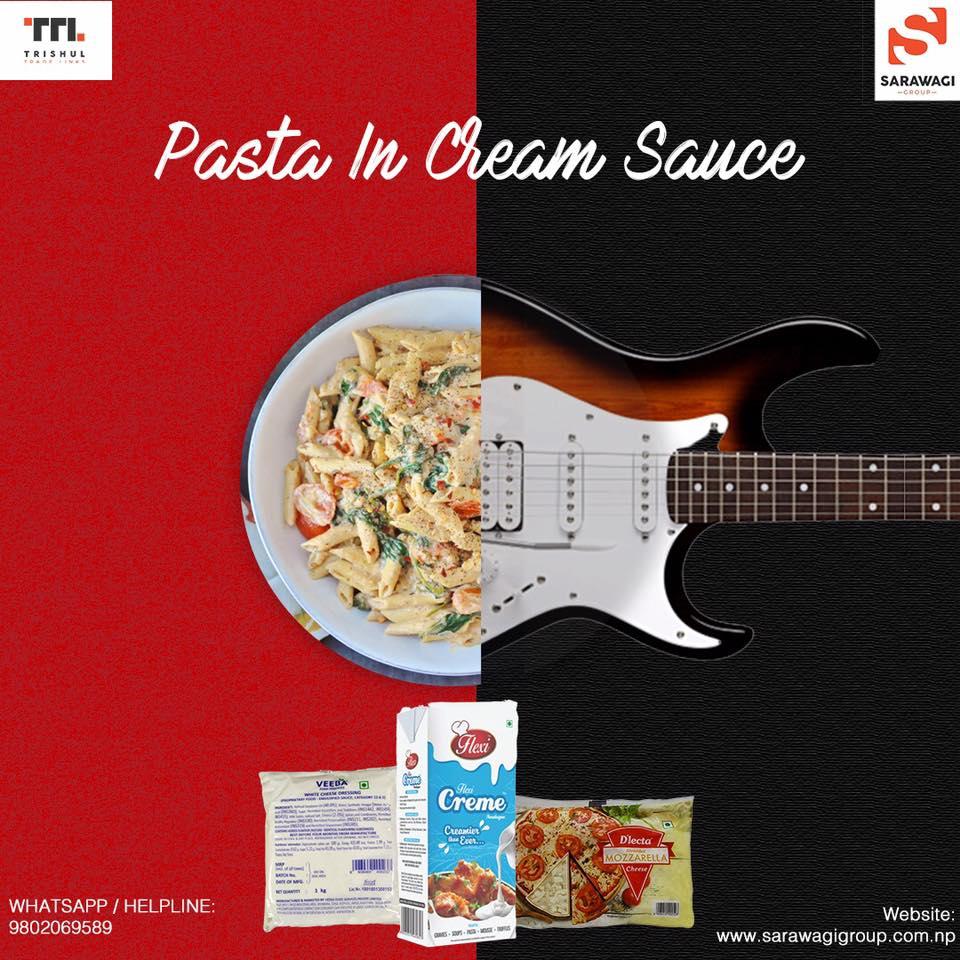 Pasta in Cream Sauce Image