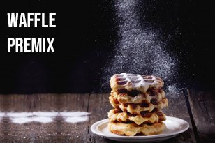 Waffle premix