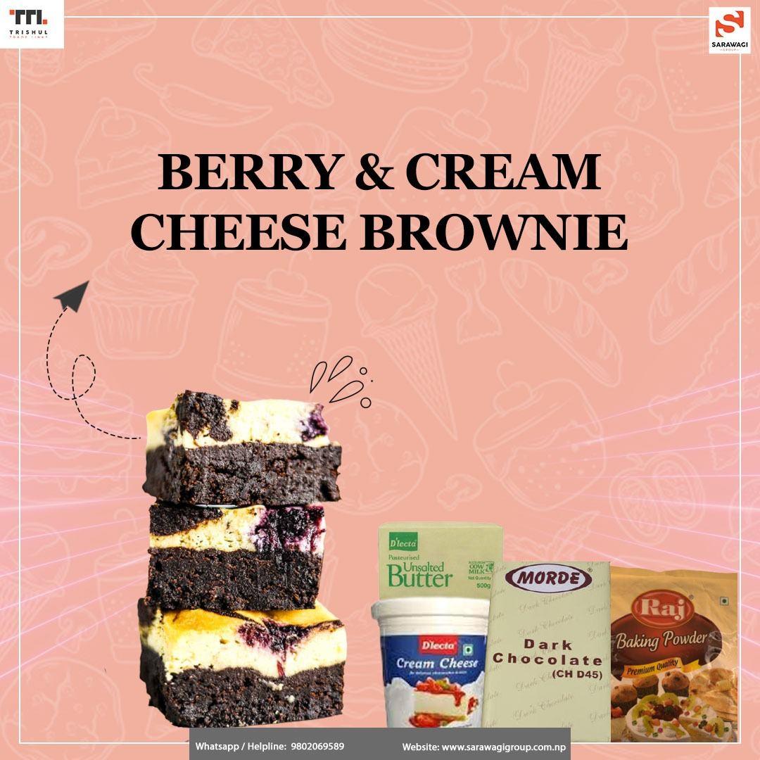 BERRY & CREAM CHEESE BROWNIE Image